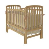 Детская кроватка WoodMan Teddy, с маятниковым механизмом поперечного качания, натуральный