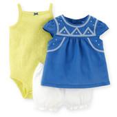 Комплект платье бодик шортики Carters размер 12М