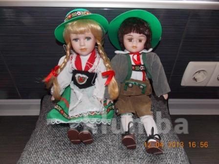 Фарфоровые немецкие фольклерные куклы 80гг.2шт фото №1