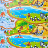 Киндер пол 2х1,2 м, развивающий коврик каремат Киндер пол Мадагаскар