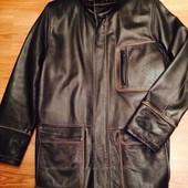 Мужская кожаная куртка Rossini, размер S-M (48)