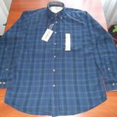 мужская рубашка в темно- синюю клетку из Америки