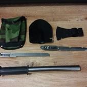 Туристический набор 4 в 1 лопатка, нож, пила, топор, подарочный набор солдату