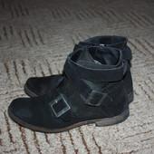 Замшевые ботиночки 37р