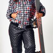 Женский костюм дутый лыжный баталл 11554