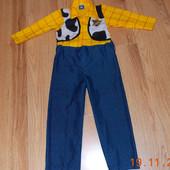 """Новогодний костюм """"Ковбой"""" для мальчика 3-4 года, 98-104 см"""
