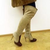 Сапоги ботфорты Luciano Carvari, 37 р. Зима