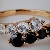 Красивое кольцо «Ночь и День», размер 16, новое