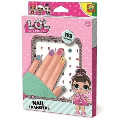 Ses набор наклеек для ногтей серии l. o. l surprise модный лук маникюр лол наклейки для творчества фото №1