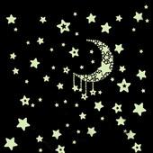 Светящиеся наклейки на стену и потолок звезды планеты месяц