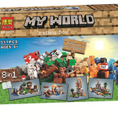 конструктор bela 10177 (аналог lego майнкрафт, minecraft) Сrafting box 8в1