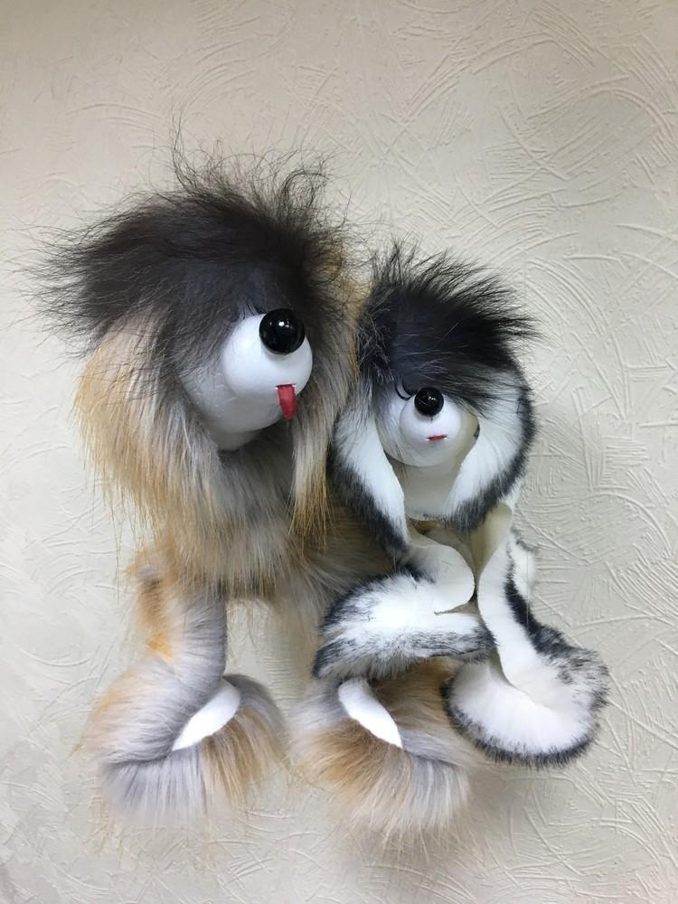 Собачка марионетка. пушистая, производство украина. йорк, хаски, долматин фото №1