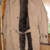 100 Пальто Румыния р.50,овчина, новое, очень теплое.