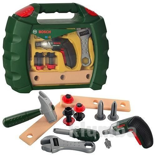 Игрушечный набор инструментов в чемодане bosch 8384, германия фото №1