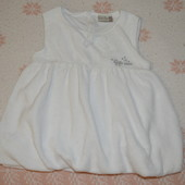 Нарядное белое бархатное платье, размер 62