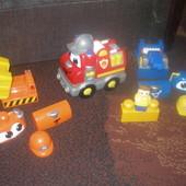 Mega Bloks. Эксклюзивный конструктор городская техника 3 в 1 детям 1-5 лет