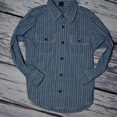 Джинсовая фирменная рубашка мальчику 5 лет 110 см ГЕП Gap