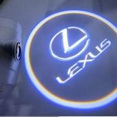 LED подсветка двери с логотипом Lexus в штатном плафоне