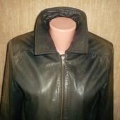 Кожаная куртка Бомбер Пог 52 см. Отличное состояние
