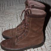 Замшевые ботиночки 36р.