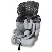 Автокресло Bertoni Junior+ (grey dots) Болгария-качество 100%, доставка в подарок!