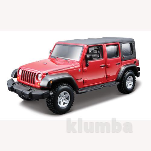 18-45121 bburago авто-конструктор jeep wrangler unlimited rubicon красный 1:32 новый фото №1