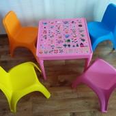 Комплект детской мебели столик и 2 стульчика