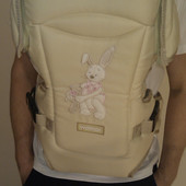 Рюкзак кенгуру переноска для детей Rainbow Womar15 excluzive (бежевый)