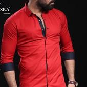 мужская рубашка с длинным рукавом Новый завоз