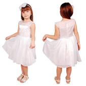 Нарядное платье для девочки Kids Couture белое