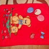 Б/у детский плед одеяло мишка 110*135см