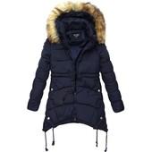 Женская зимняя куртка парка пуховик пальто с капюшоном
