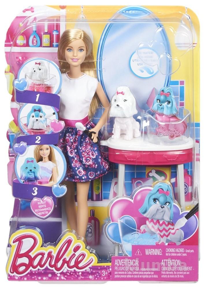 Barbie color me  cute doll барби гламурный салон для домашних питомцев фото №1