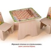 +Видео!Гарантия 2 года! Игровой столик Шахматы+2 стульчика арт.С 4.1, фотопечать, укр. производство