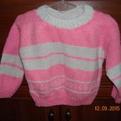 Теплый свитерок -для девочки Новый