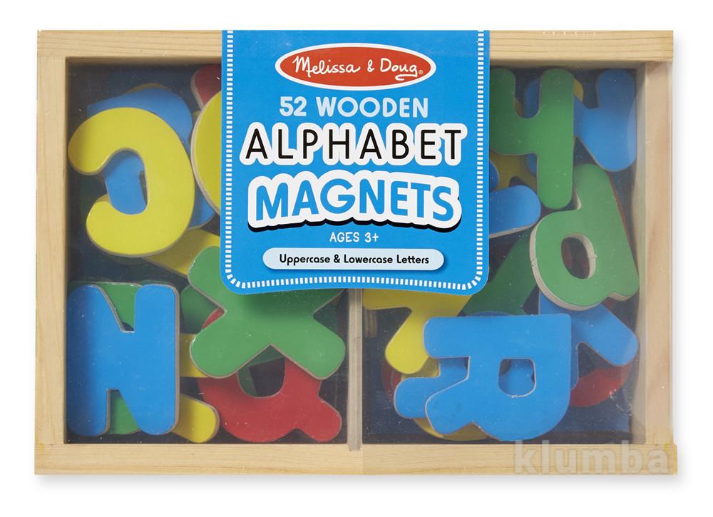 Деревянные обучающие игрушки, деревянные буквы на магнитах фото №1