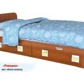 Гарантия 2 года! Кровать Ромашка 2 ящ., 90х190 см, укр. производство