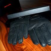 Кожаные фирменные перчатки в коробке Pierre Cardine, р. 9, 5.