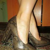 Туфельки под рептилию р.41