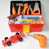 Детский набор инструменты ящик машинка шуруповерт Toolbox Center