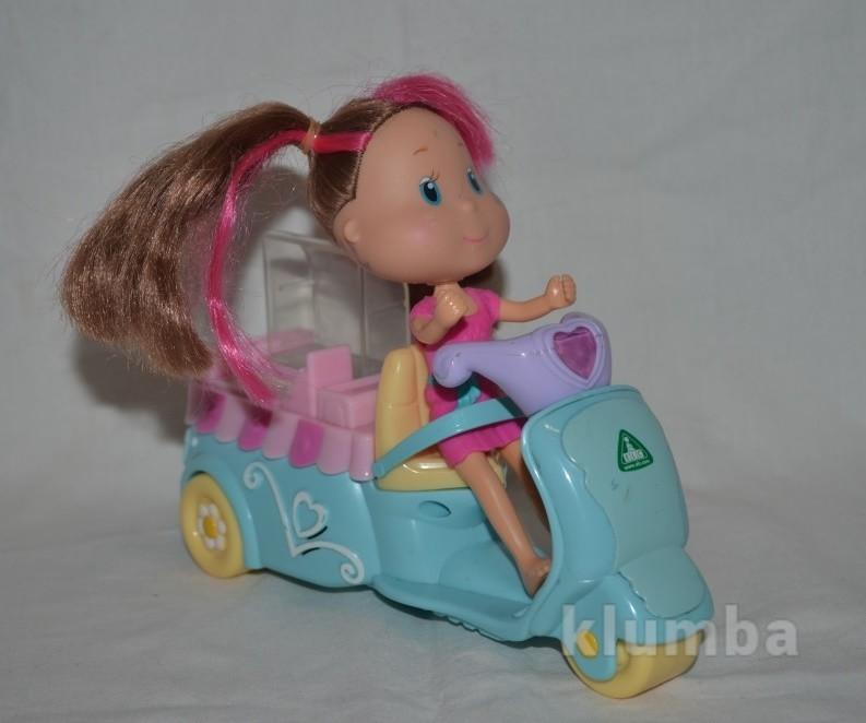 Rosie's world elc рози мир куколка кукла с аксессуарами мотороллер скутер фургончик с мороженым фото №1