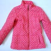Демисезонная куртка в горошек 9-10 лет