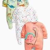 Три пижамы с динозаврами (0 мес. - 2 года) 530-557 грн