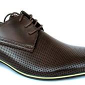 Стильные мужские туфли отличного качества (R12)