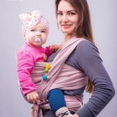 Слинг-шарф тм Наш слинг Сара лен+хлопок от 0 до 2-х лет