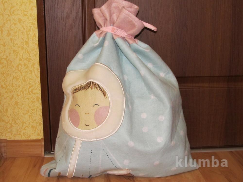 Большой мешок для подарков или игрушек фото №1