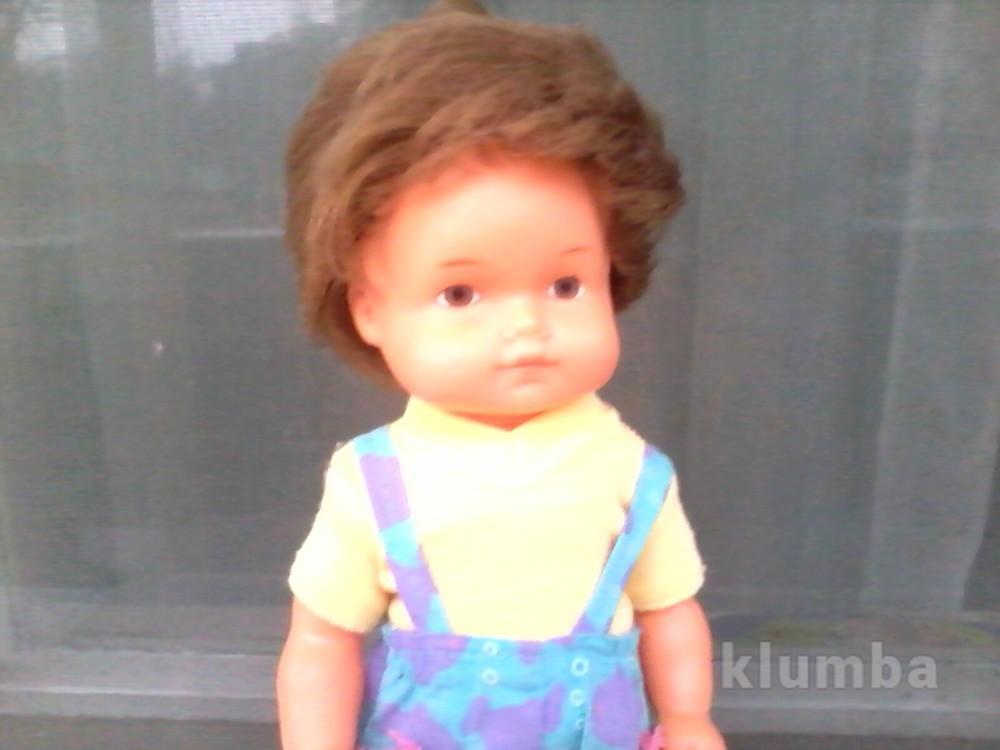 Кукла пупс мальчик-рыболов гдр в родном 26 см фото №1
