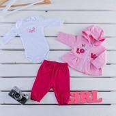 Костюм-тройка для девочки Love Тм Фламинго