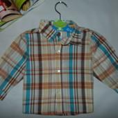 Модная рубаха Disney на 9-12 мес,рост 74-80см.Мега выбор обуви и одежды!
