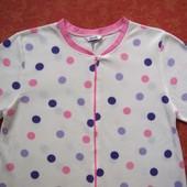 Взрослый флисовый человечек-пижама размер 12-14 (M-L), б/у. Хорошее состояние, без пятен. Длина 144